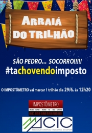 #TaChovendoImposto: Impostômetro marca R$ 1 trilhão nesta 2ª feira às 12h20