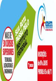 Cursos superiores oferecidos pelo IFSP