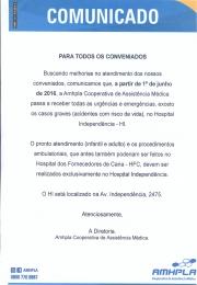 Comunicado AMHPLA