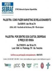 SEBRAE - Convite palestras