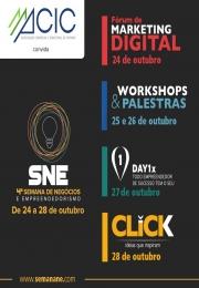 S.N.E - 4ª Semana de Negócios e Empreendedorismo, evento realizado pela ACI Campinas apoio Institucional ACIC Capivari