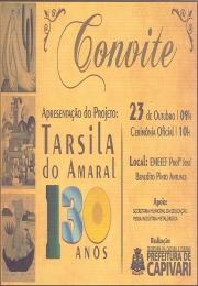 Convite Apresentação do Projeto: Tarsila do Amaral 130 anos