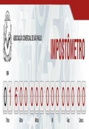 Impostômetro da Associação Comercial de SP chega a R$ 1,6 trilhão na segunda-feira (24/10) às 8 horas