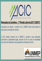 Renovação de Convênios – 1º Período Letivo de 2017 (1S/2017)