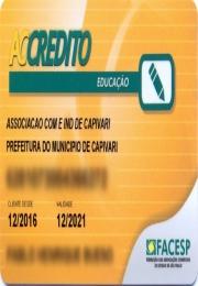 Cartão Educação 2017.