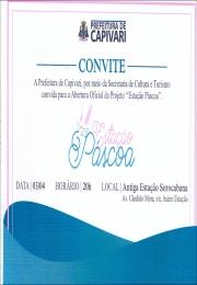 Convite Abertura Oficial do Projeto Estação Páscoa