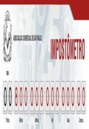 Impostômetro da ACSP marca R$ 800 bilhões, 14 dias antes do que no ano passado