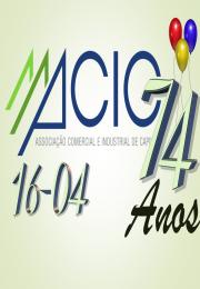 ACIC completa em 16/04/2018  74 anos de existência.