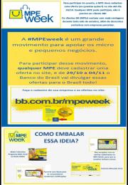 MPEweek Uma semana de vantagens para sua empresa e de graça !!!