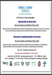 Palestras: Indicadores de Resultado e Processo de Administração de Estoque